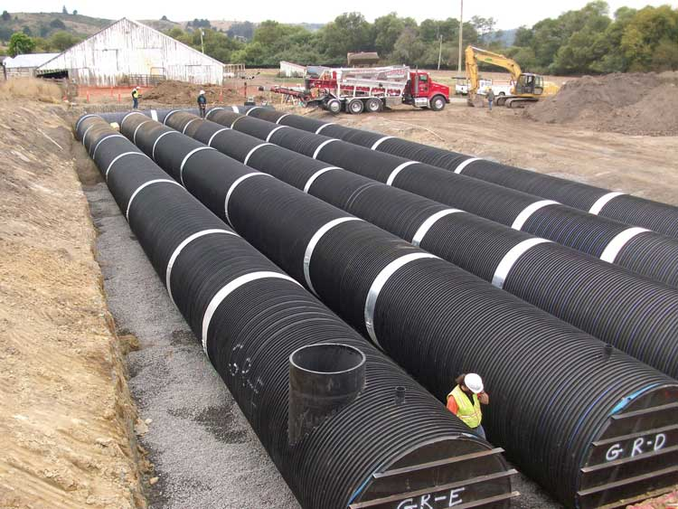 Photo example of the type of storage tanks that will be installed.