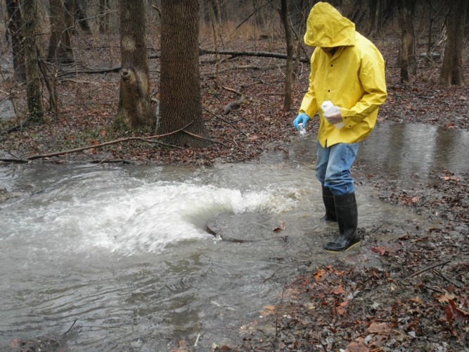 HERE, UNTREATED WATER IS TESTED AT AN SSO SITE TO DETERMINE THE RISK TO PUBLIC HEALTH.