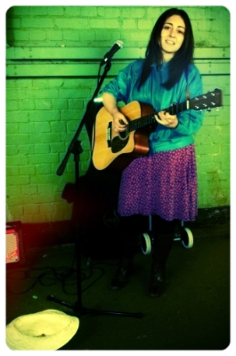 Busking in the underpass in Forest Hill.