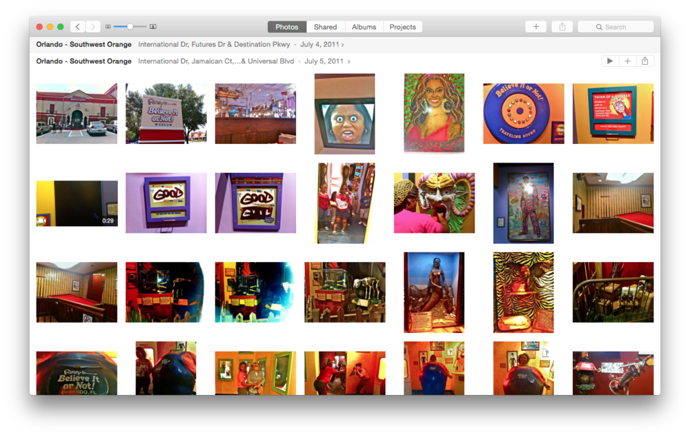 You'll have 4 views to choose from when browsing through your photos and collections.