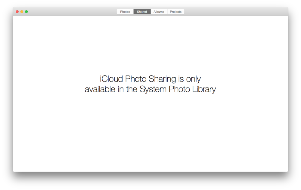 You'll only be able to view the shared tab if you are using the default library