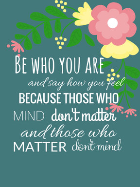 Click the image above to download the Be Who You Are Journaling Card