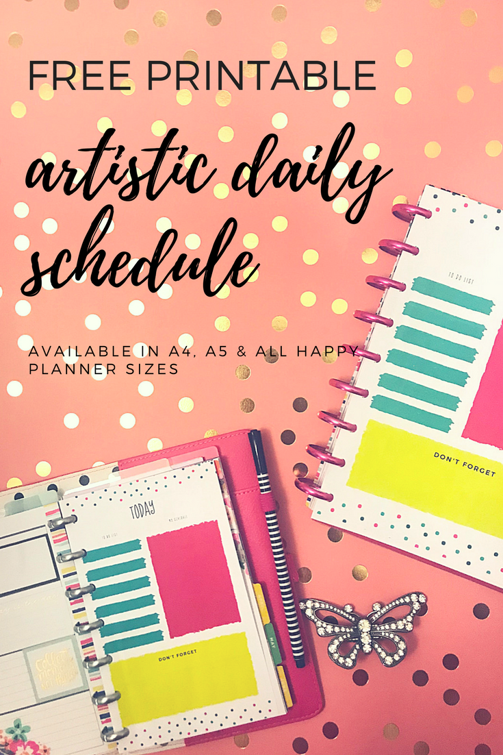 Artistic Daily Schedule Printable Pinterest.png