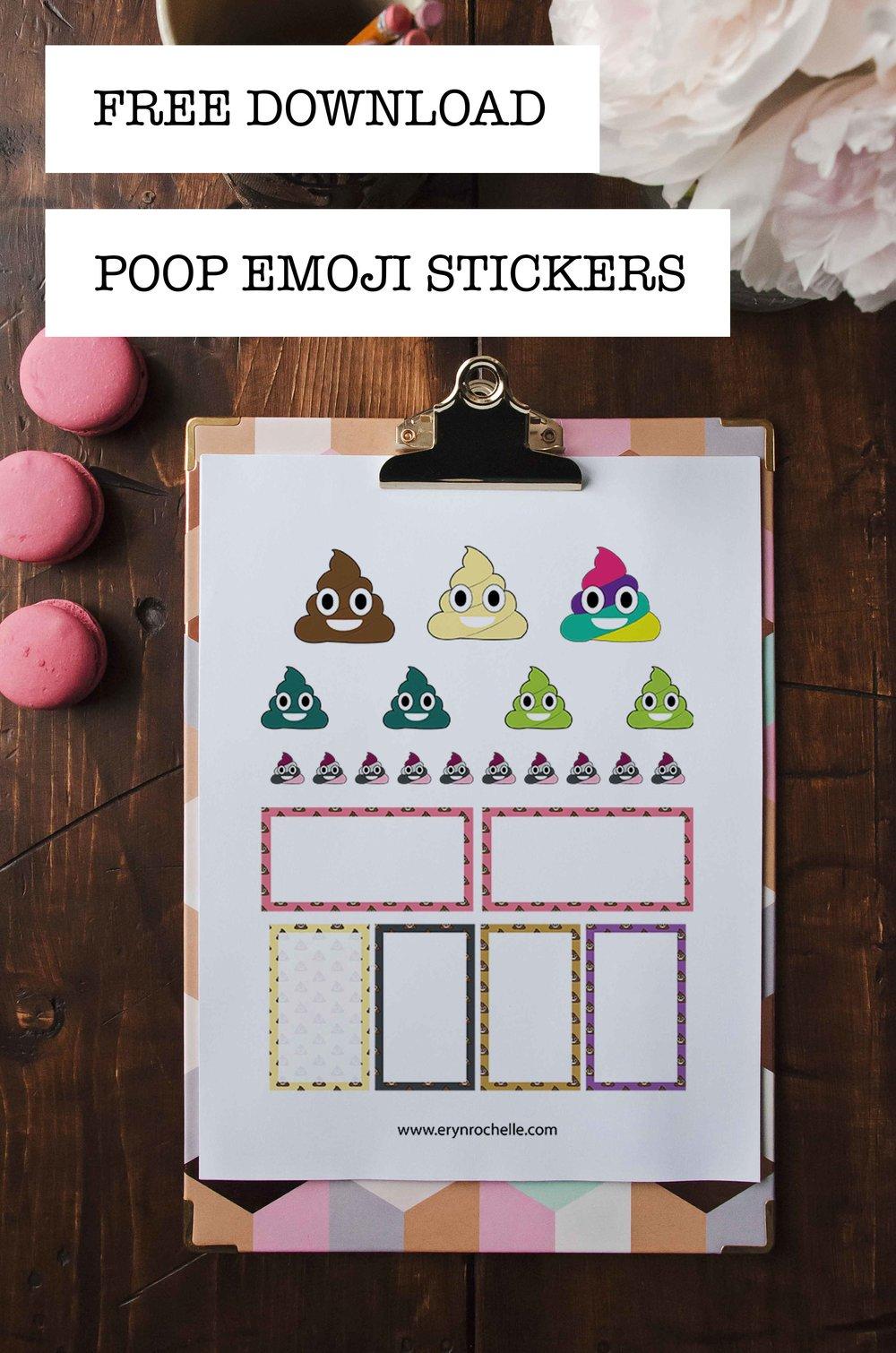 Poop Emoji Sticker Pack