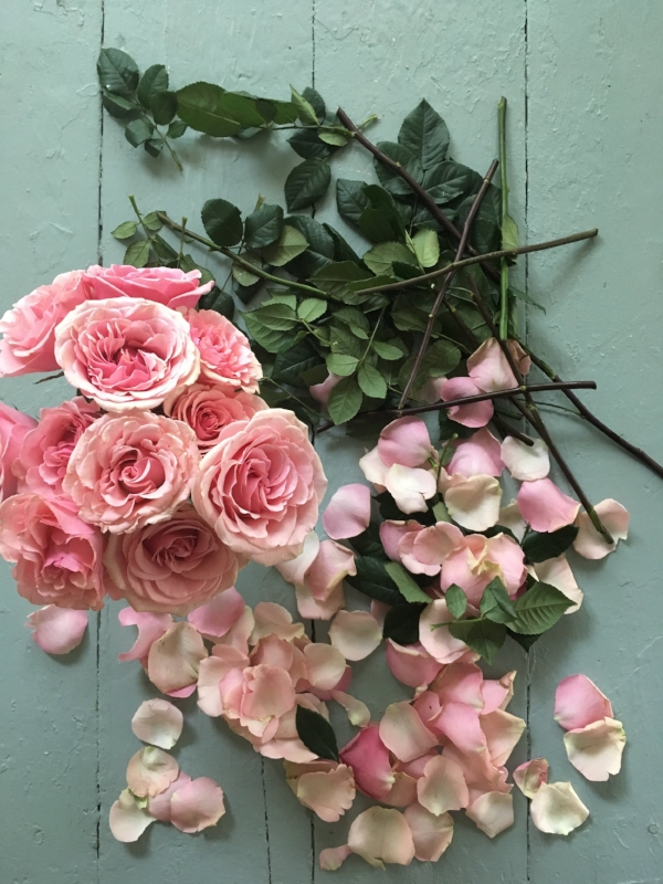 Here's a pic of some old roses that I made new again. Just cause.