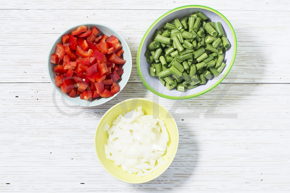 Diced vegetables