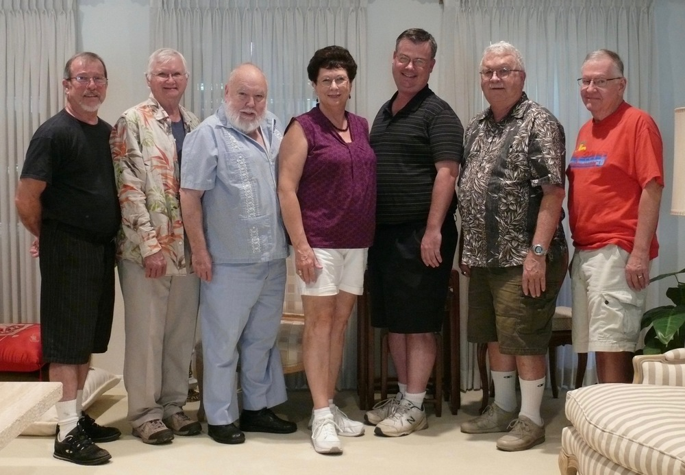 From left to right: Frank Marasco, Rick Briscoe, Jim Earl, Ilene Devlin, Nathan Lott, Gordon Alley, Gene Zimmerman