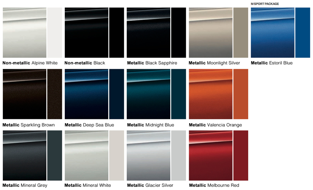 FOR INTERIOR COLOURS, DOWNLOAD BROCHURE