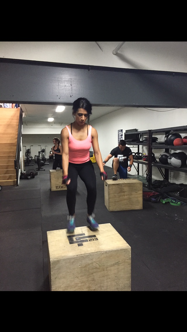 Sandra on her box jump A-game!