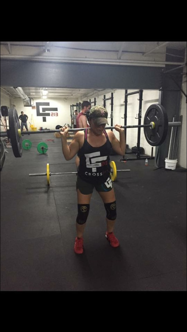 The Silver Fox in her native habitat at CF213....crushing the bear!