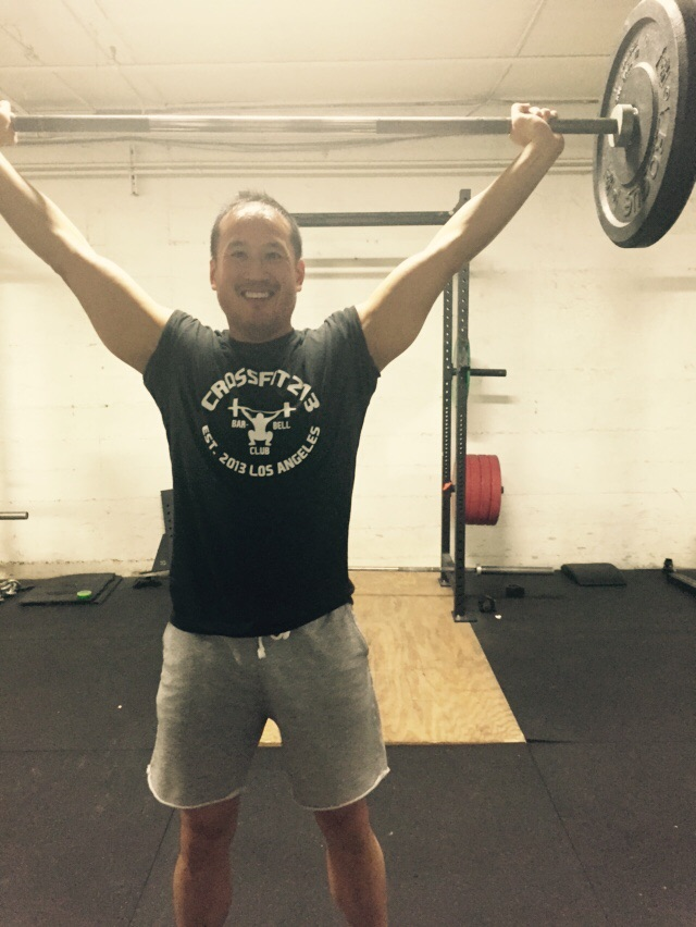Will looking a bit too happy during the WOD haha!