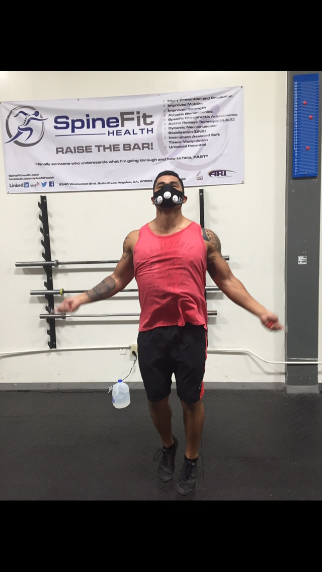 The Marine wanted more pain by wearing his elevation mask!