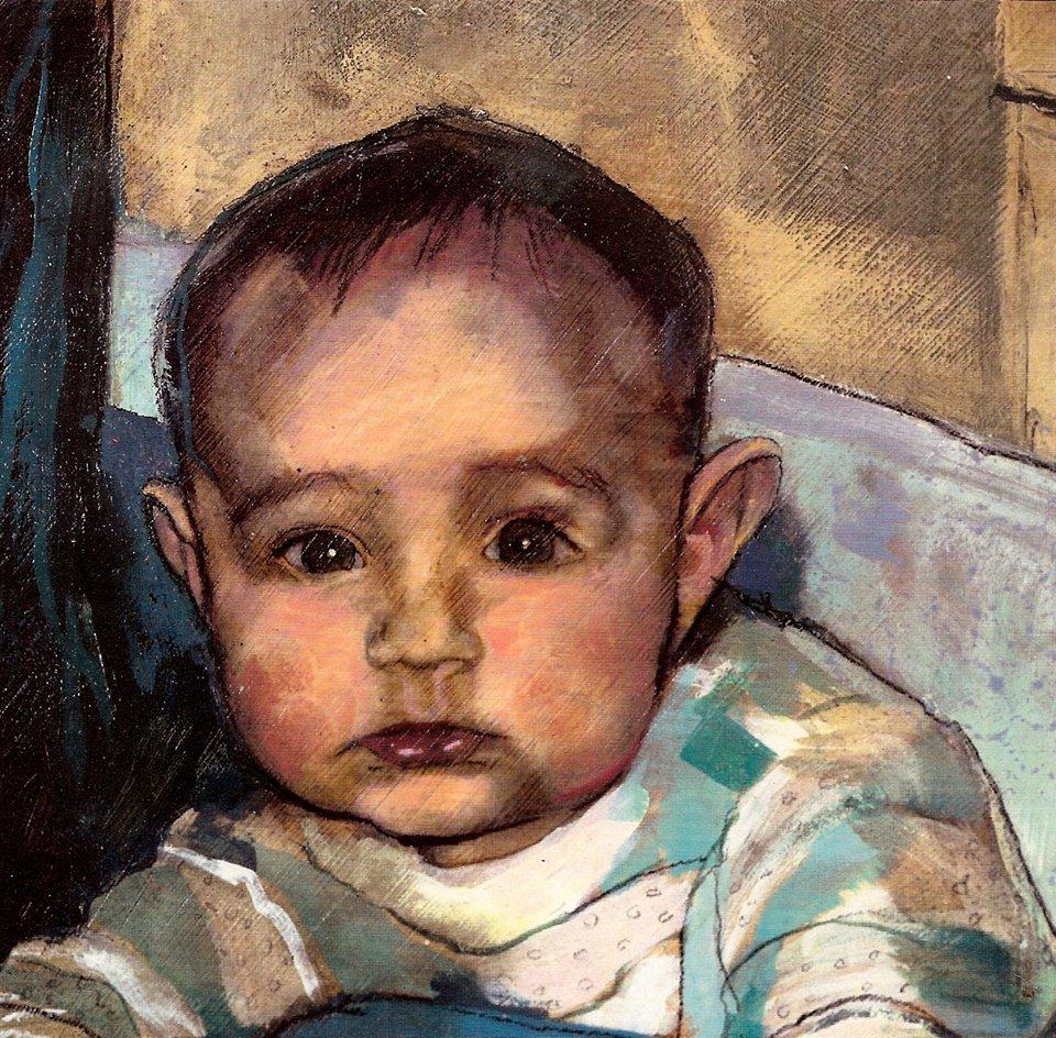 "'Baby Jack (detail)' , oil, 24"" x 36"""