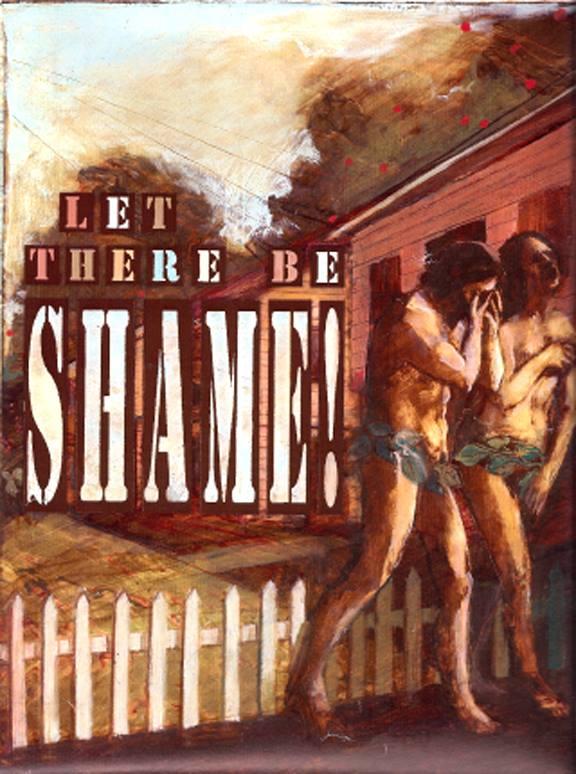 "'Shame' Insight Magazine, mixed medium, 11"" x14"""