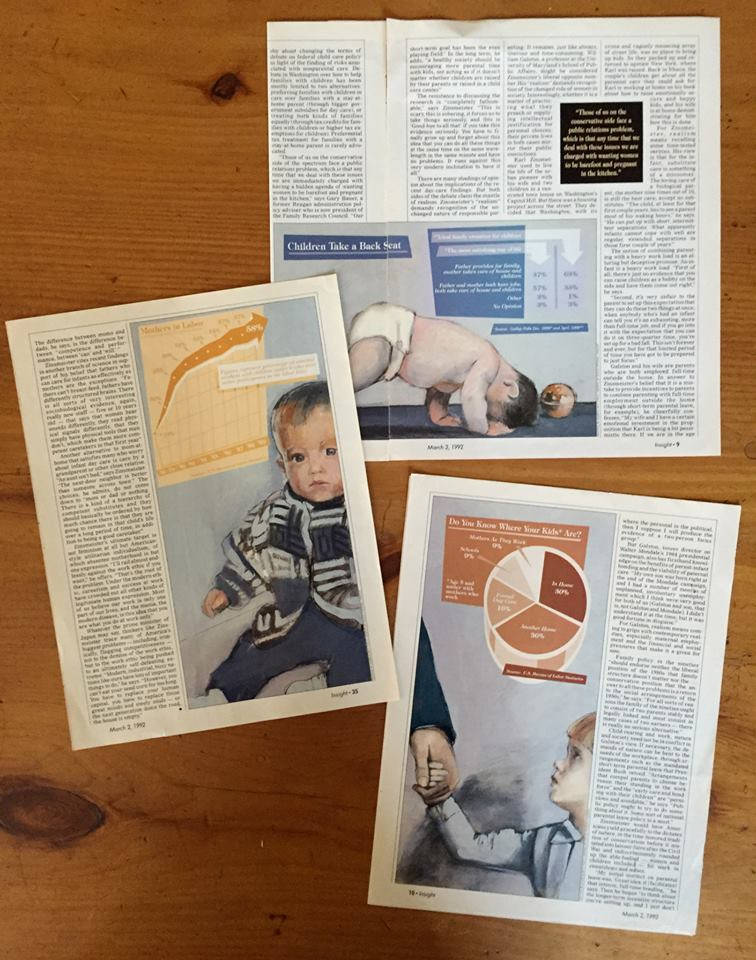 'Child Abuse Graphics' Insight Magazine, mixed medium