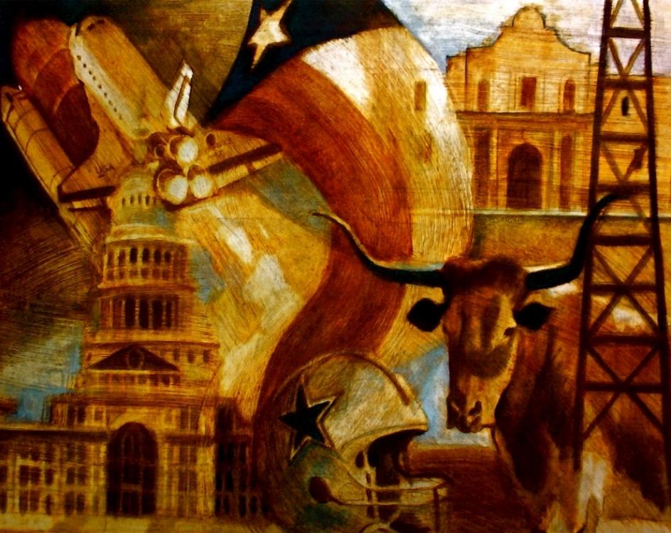 "'Texas', oil, 16"" x 20"""