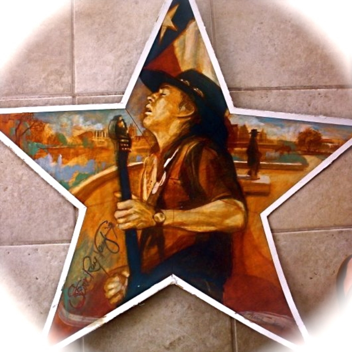 "'Stevie Star', oil,  available as 6"" ornament, or 12"",18"",30"" Barn Star"