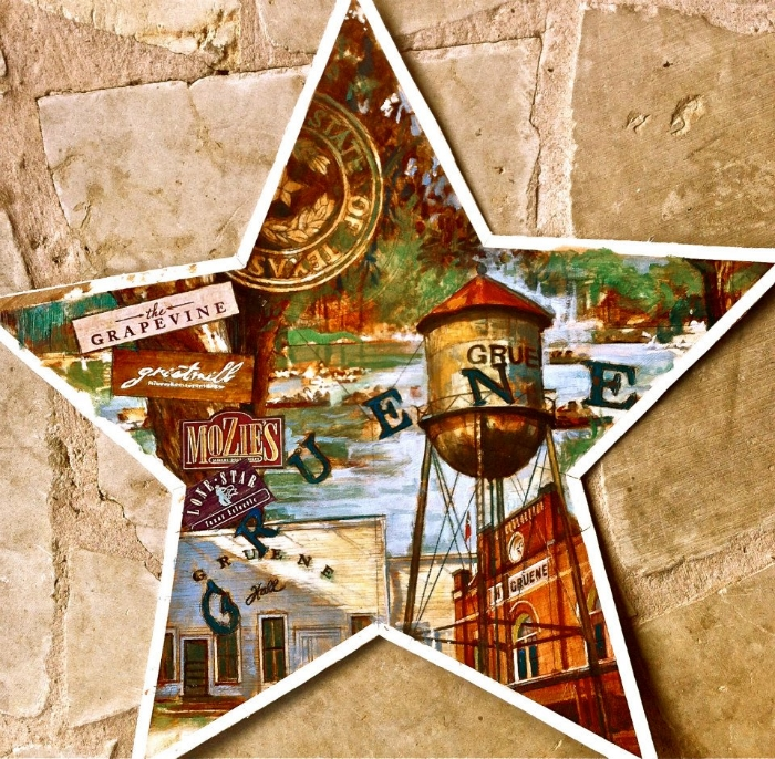 "'Gruene Star,  available as 6"" ornament, or 12"",18"",30"" Barn Star"