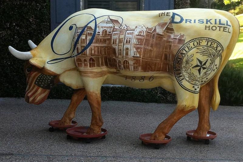 'Driskill Cow' The Driskill Hotel, mixed medium, life sized