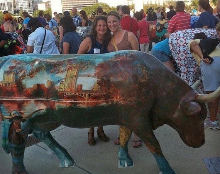 'Music Cowpital' Austin Cow Parade, mixed medium, life sized