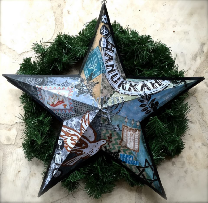"'Hanukkah Star', metal, Mixed medium 12"",18"",30"""