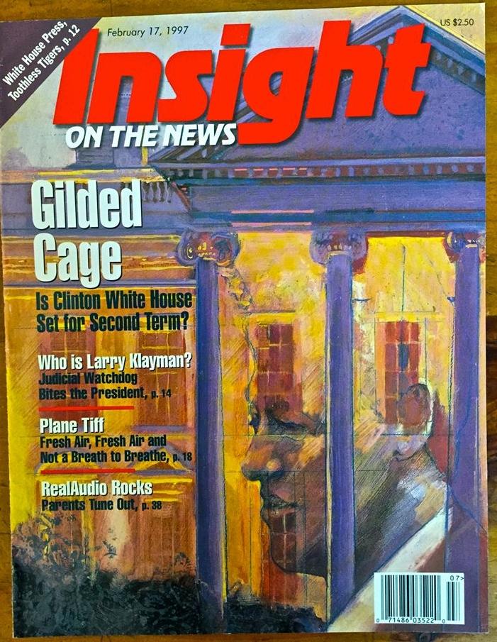 "'Gilded Cage' Insight Magazine, mixed medium, 11"" x14"""
