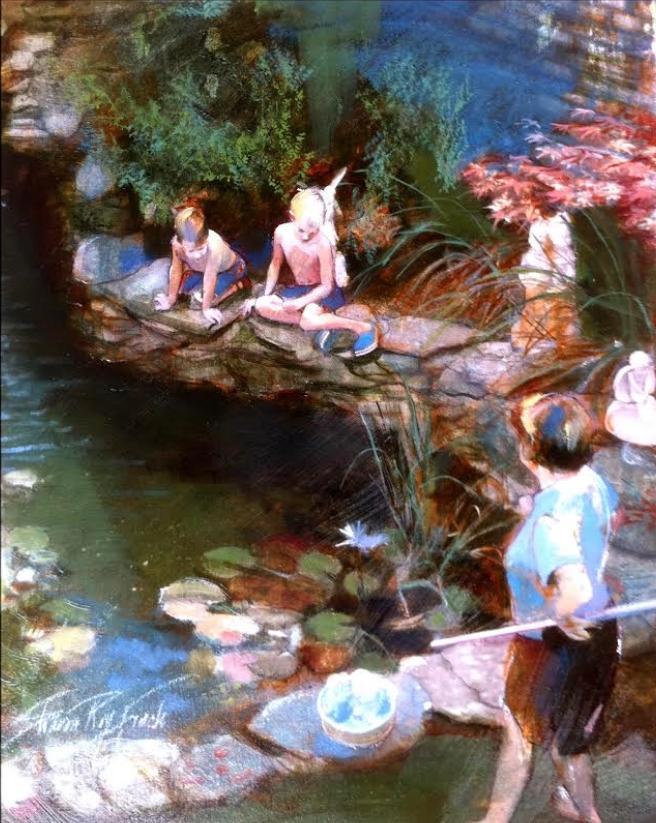 'The Pond', oil, 18' x 24'
