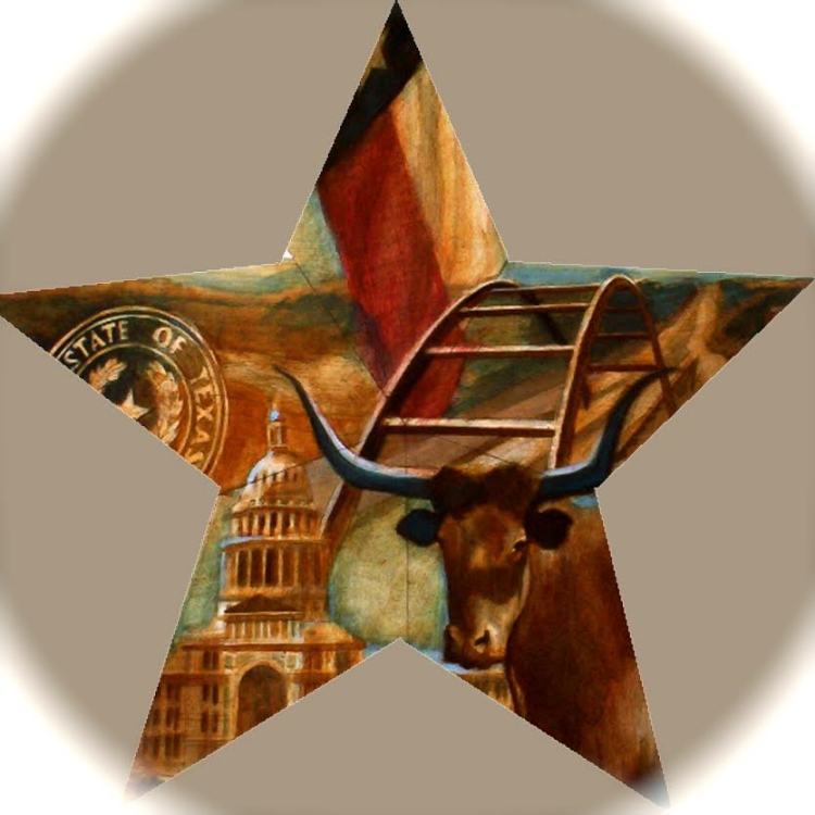 "'Austin Star,  available as 6"" ornament, or 12"",18"",30"" Barn Star"