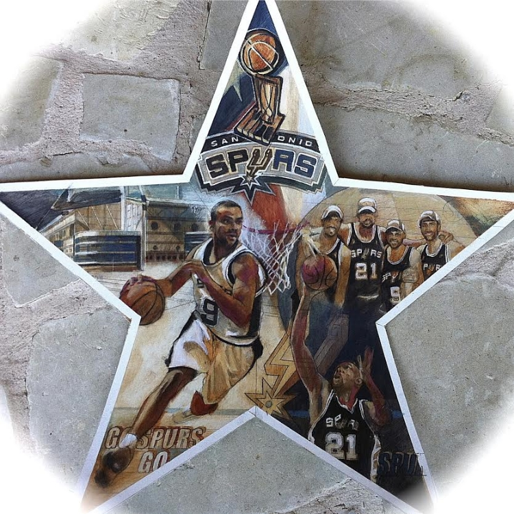 "'Spurs Star,  available as 6"" ornament, or 12"",18"",30"" Barn Star"