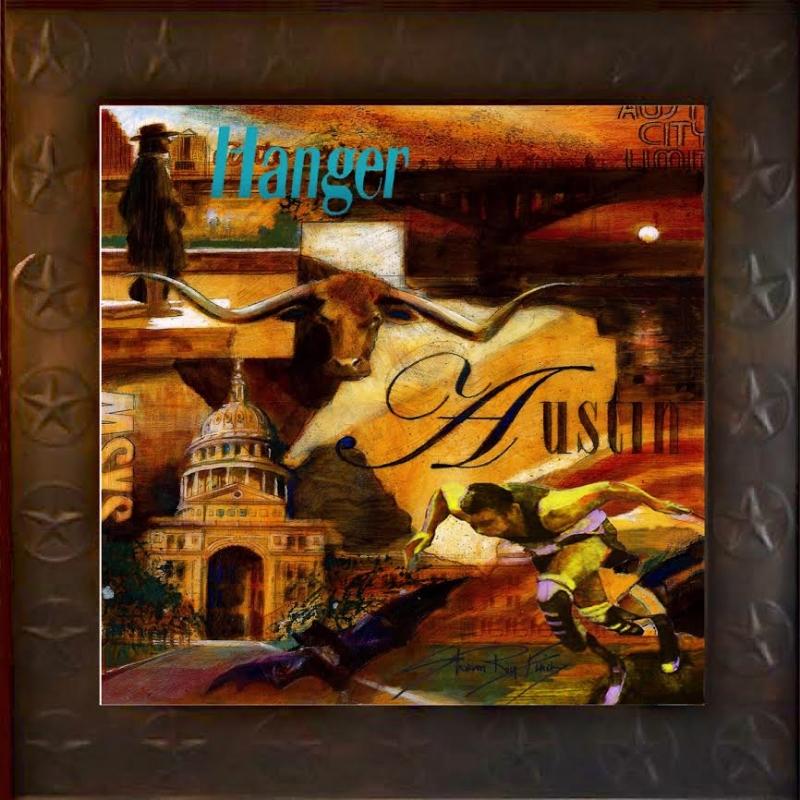 "'Hanger Austin' Hanger Prosthetics, mixed medium, 24"" x24"""