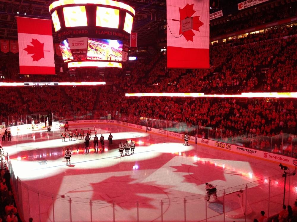 Calgary Flames at the Saddeldome