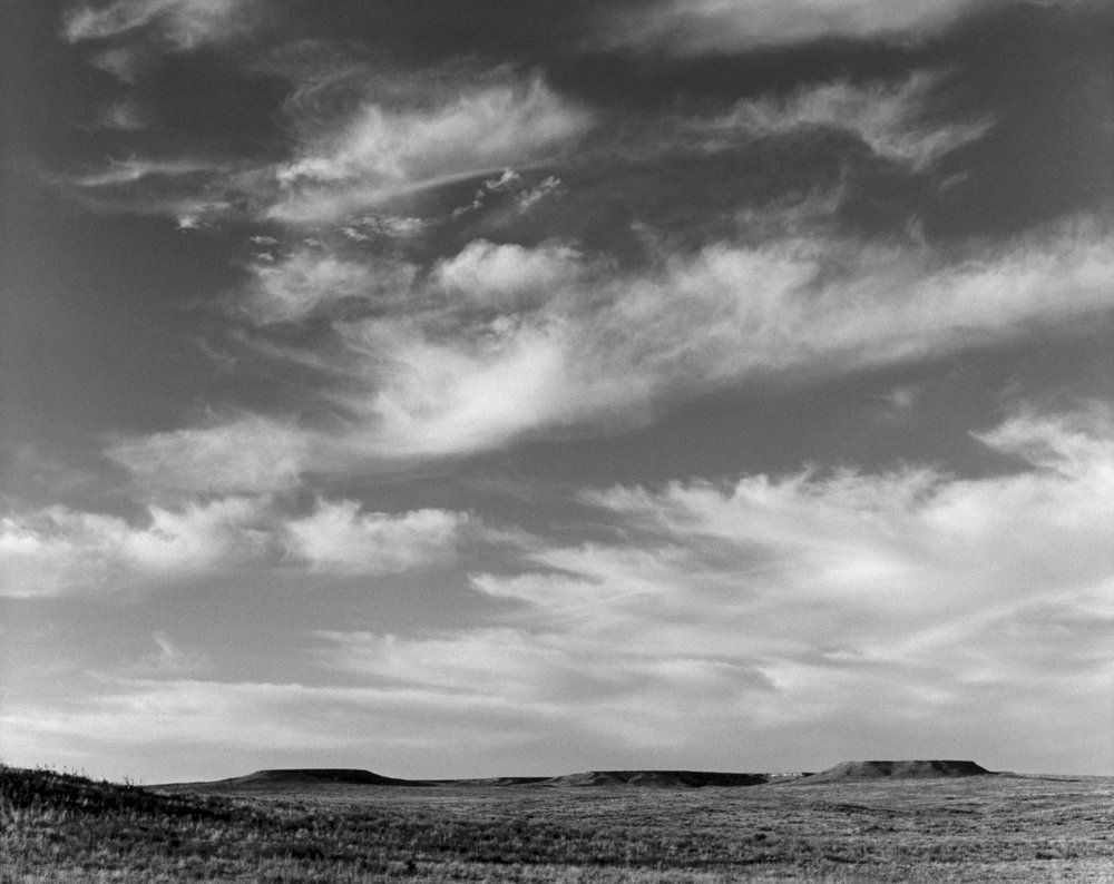 Mesas and Clouds Near Channing, Texas