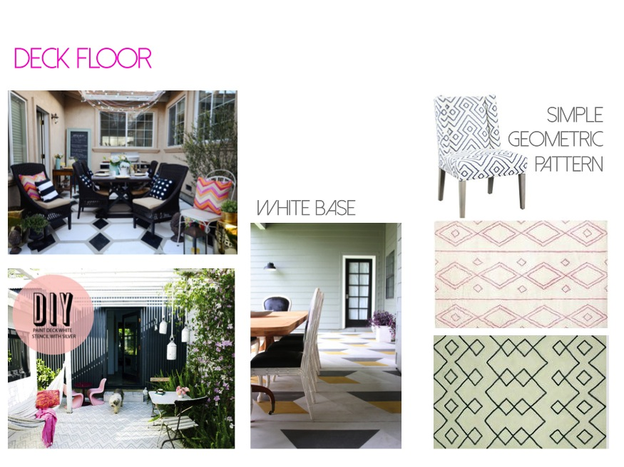 brittany makes painted patio / small stencil patio / jenny komenda painted porch