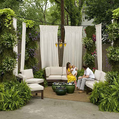Outdoor space via Southern Living