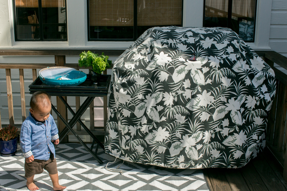 Katie Gavigan Interiors Home Depot Patio Style Challenge grill cover