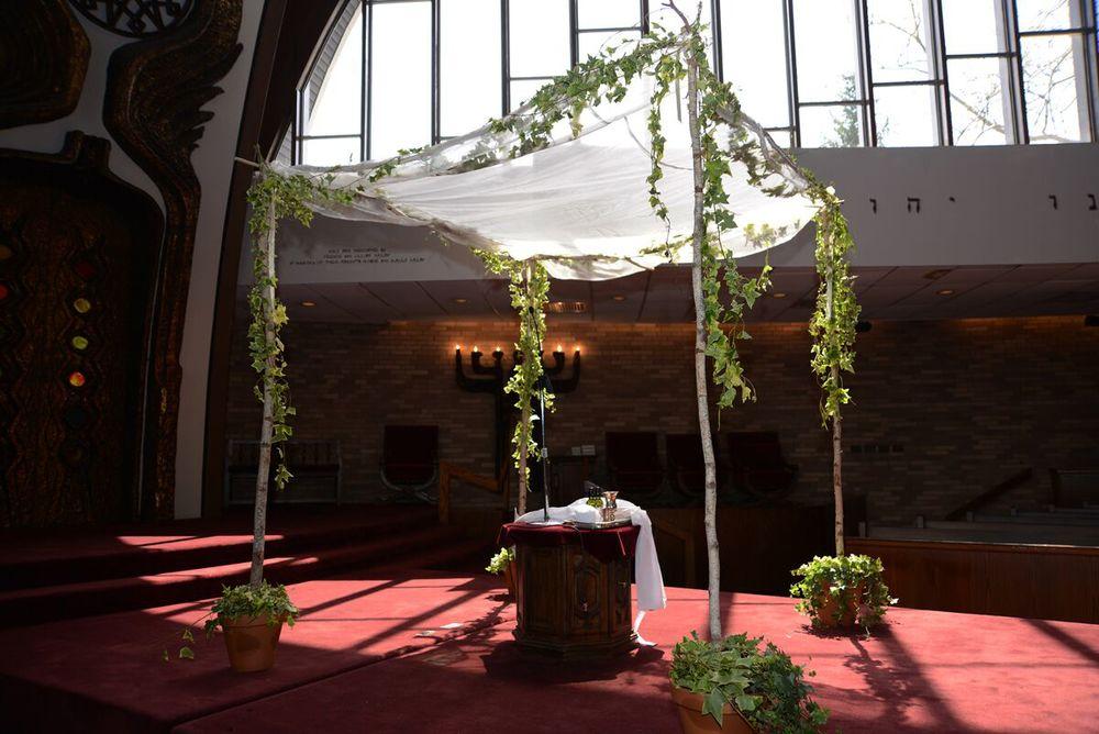 Birch Pole Chuppah, Sephardic Temple, Cedarhurst, NY