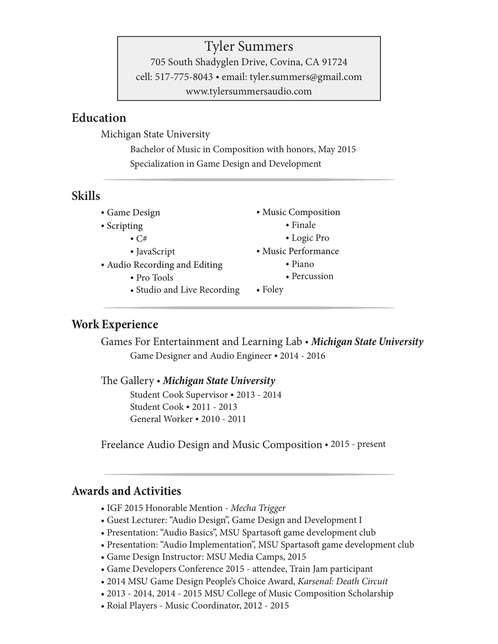 sample of short write up music teacher resume template example