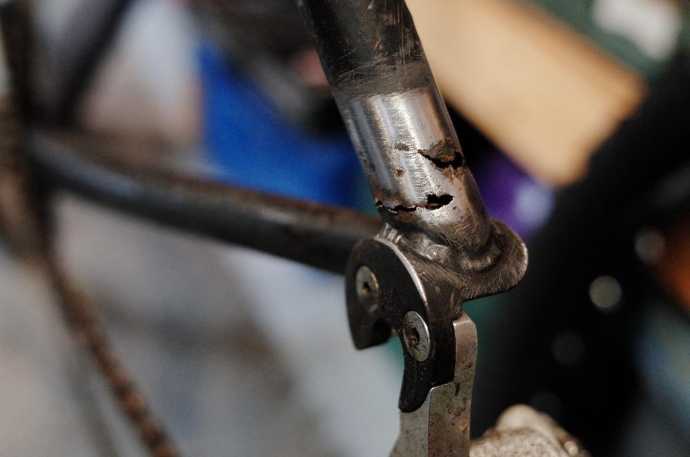 JP's cross bike, suffering from the effects of a long, hard New York winter.