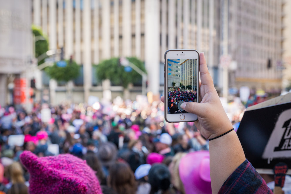(2018) Social media plays a large part in documenting the day's activities. Hashtags will help to curate content for recaps of the marches from all over the world.