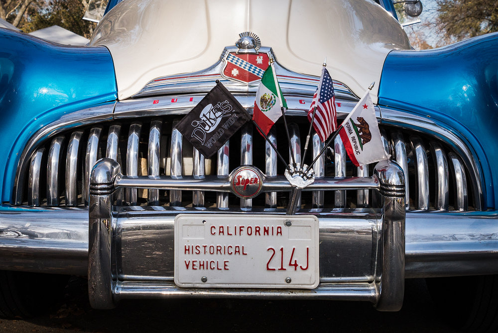 Grill of a Duke's Car Club member's 1947 Buick Super