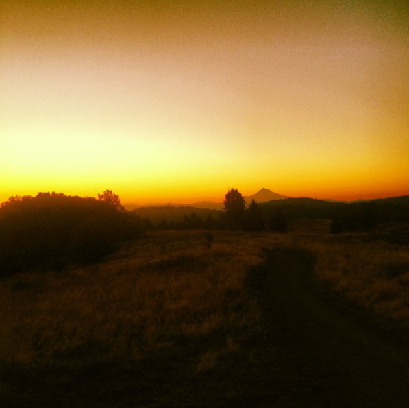 Sunrise at Powell Butte Photo