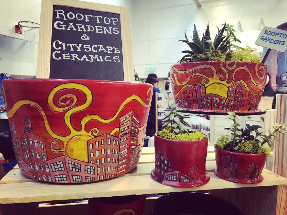 Meet Me At Pottery Barn To Pick Up Hand Made Rooftop Garden Planters,  Cityscape Ceramics And Small Paintings For The Art Lovers On Your Holiday  Shopping ...