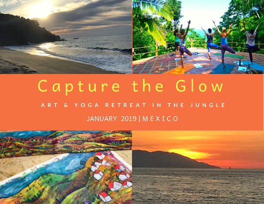 Capture the Glow  Art & Yoga Retreat