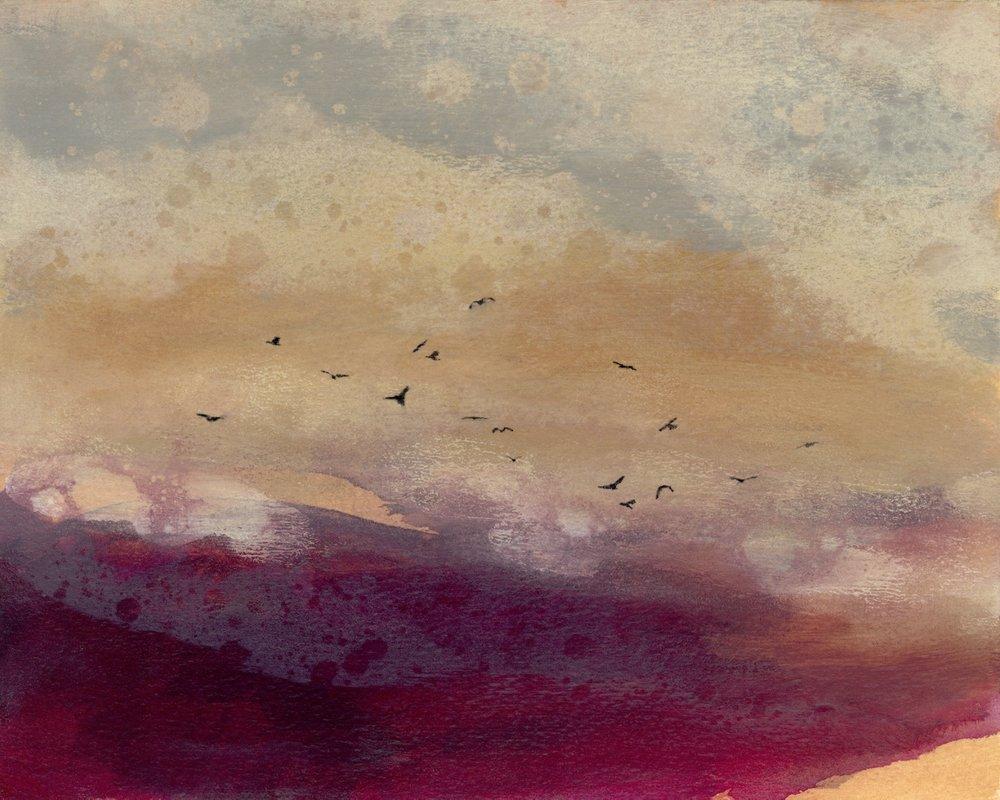 Jeni Lee, Sunset Soar, Rain Painting Print, (1280x1024).jpg