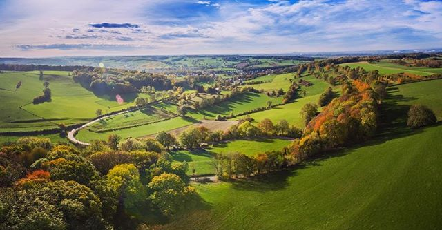 The beautiful area in the southern part of Limburg in Belgium in fall. #naturephotography #visitlimburg #drone #dronephotography #voeren #visitvoeren #panorama #nature #seasons #travel