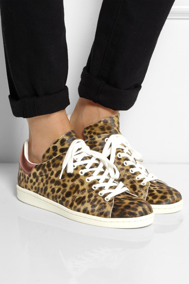 Sure, sneakers aren't for everyone nor are they for every outfit. But don't knock it 'till you try it. And the comfortableness alone should sell you. | Isabel Marant leopard sneakers via  Net-a-Porter