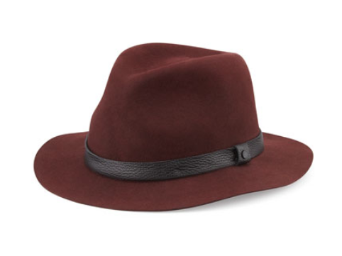 Everyone can and should be a hat person. Somewhere out there is a style and fit for you. | Rag & Bone Fedora via  Neiman Marcus