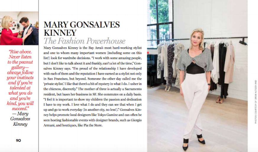 MGK named Boss Lady and one of the Top 10 Most Significant Female Movers and Shakers in the Bay Area by Haute Living's Kate Sweeney.