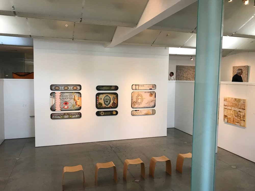 Now represented by  Gebert Contemporary on Main  Scottsdale, AZ Gallery Installation October 2017