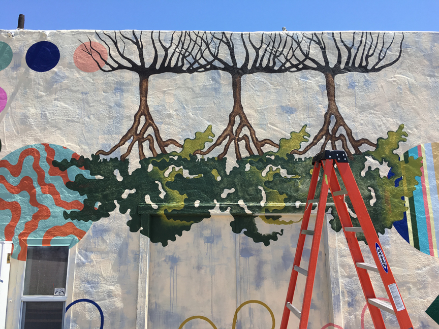 Mural in Progress, Detail